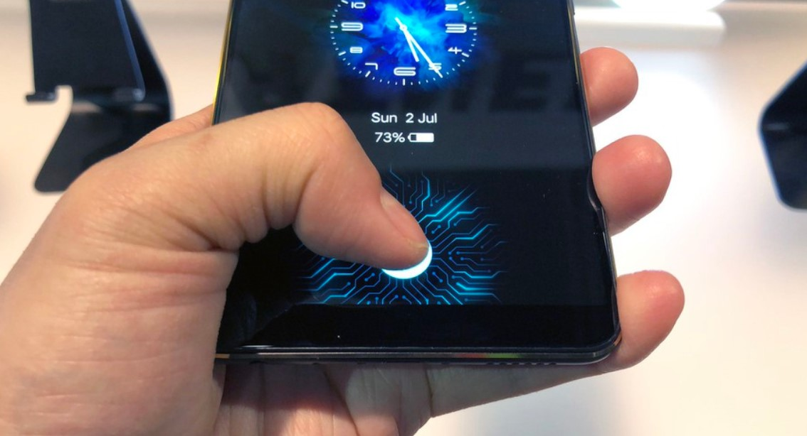 Phones with in-display fingerprint scanners